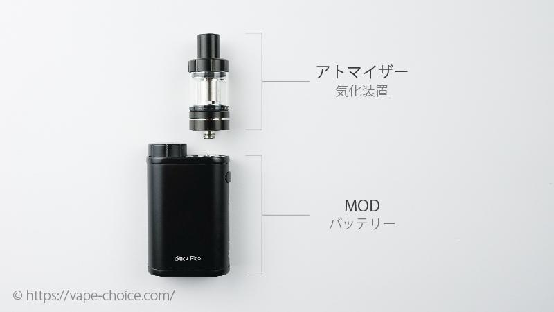 MODタイプの電子タバコの仕組み